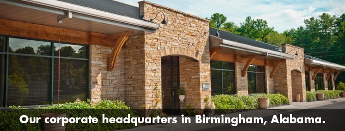 Our corporate headquarters in Birmingham, Alabama.